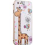 Cuty Giraffe Pattern Metal Frame PC painted  Hard Case for iPhone6/6s/6 Plus/6s Plus