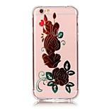 iphone 7 más resistente a los golpes flores transparentes de la cubierta TPU caso de la artesanía bronceado suave para el iphone 6s 6 SE 5s más 5