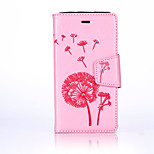 For Wiko Lenny3 Luxury Retro Dandelion Diamonds embossed wallet Phone Cover With Stand Card Holder