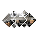 3D Wall Stickers Wall Decals Style Diamond Mirror Wall Stickers