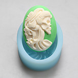 Female Skeleton Head Chocolate Silicone Molds,Cake Molds,Soap Molds,Decoration Tools Bakeware