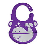 Baby Bibs Silicone Waterproof Bibs Infants Kids Cute Baby Bib Pocket (whale)