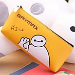 Baymax PU Leather Cartoon Stationery Bag