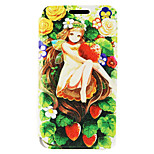 Kinston® Strawberry Girl Pattern PU Leather Full Body Cover with Stand for iPhone SE/5/5s/6/6s/6 Plus/6s Plus