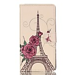 For Huawei Case / P9 / P9 Lite Wallet / Card Holder / with Stand / Flip Case Full Body Case Eiffel Tower Hard PU Leather HuaweiHuawei P9