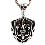 Titanium Steel Necklace Pendant Z349 Europe And The United States Foreign Trade, Shield(Excluding Chain)