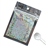 1pcs Nail Art Beautiful Color Silver Laser Glitter Powder Nail DIY Decoration L03