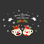 Wall Stickers Wall Decals Style Christmas Glass PVC Wall Stickers