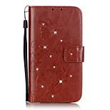 Tuta A portafoglio / Strass / con supporto Tinta unita Similpelle Morbido Card Holder Copertura di caso per LGLG K10 / LG K7 / LG K4 / LG