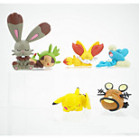 Pocket Little Monster Various Monsters and Pikachu Clay 3~5cm Height Anime Action Figures