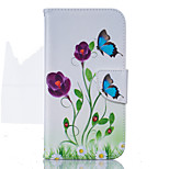 Blue Butterfly Pattern Card Phone Holster for Moto G4/G4 Plus