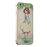 Crayon Girl Pattern Metal Frame PC painted  Hard Case for iPhone6/6s/6 Plus/6s Plus