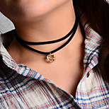 Necklace Choker Necklaces / Pendant Necklaces / Layered Necklaces Jewelry Party / Daily / Casual Fashionable Alloy Gold 1pc Gift