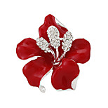 Lady Boutique Sexy Red Flower Rhinestone Wedding Brooches