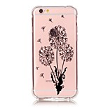 iPhone 7 Plus Shockproof Transparent Dandelion TPU Soft Bronzing Crafts Case Cover For iPhone 6s 6 Plus SE 5s 5