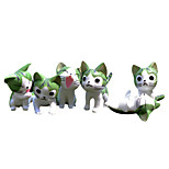 Moss Micro Landscape Decoration Flowerpot Accessories Fleshy Cute Cartoon Cat New Green