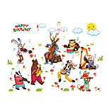 3D Wall Stickers Wall Decals Style Animal Birthday Band PVC Wall Stickers
