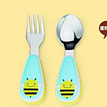 Stainless Steel  Baby Fork and Spoon(Bee)