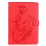Tuta portafoglio / A portafoglio / Other Fiore decorativo Similpelle Morbido Embossed leather Copertura di caso per Apple iPad Air