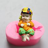 moldes bebê menino de chocolate de silicone, moldes de bolo, moldes de sabão, ferramentas de decoração bakeware