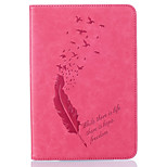 A Variety Of Colors Feather Pattern Embossed Leather For  IPAD MINI4