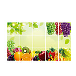 AY3027 Fruit Grape Stickers Anti-oil Decals 3D Wall Stickers Plane Wall Stickers,vinyl 45*75cm