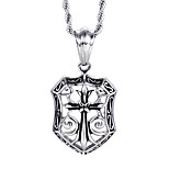 Western And American Popular Jewelry Men's Stainless Steel Hollow Cross Pendant Necklace