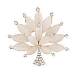 Fashion High Quality Exquisite Women Opal Tree Bouquet Brooches for Wedding