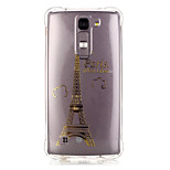 TPU Material Golden Tower Pattern Bronzing Phone Case for LG K10/K8/K7