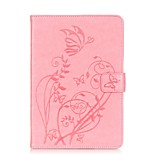 PU leather Material Butterfly Pattern Plate Embossing Protective Case for Apple iPad Mini 3/2/1