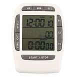 1Pc  Electronic Timer Countdown Lab Multifunction White