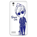 Cartoon Painting  TPU Soft for OPPO A51(handsome boy)