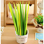 Creative Green Grass Ball Pen / Gel Pen / Pen / Student Pen Clicker Pen Explosion Models Selling