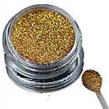 1 Bottle Nail Art Laser Gold Glitter Shining Powder Manicure Decoration Nail Beauty L01