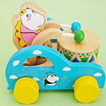 dibujo animado del oso tambores coche de juguete