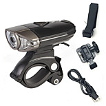 Bicycle Front Lights/Headlamps-3 Mode USB Helmet Lamp/Rechargeable 3 Watt CREE LED Beam/Lithium Battery Cycling