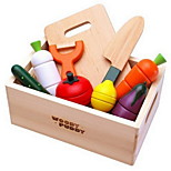Magnetic Wooden Fruit And Vegetables Cut Food Baby Play House Toys