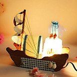 Boat Sailing Drift Bottles Vintage Wooden Lamp Nightlight