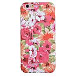 indietro Resistente alla polvere / A fantasia Fiore decorativo PC Difficile Pattern Flower Copertura di caso per AppleiPhone 6s Plus/6