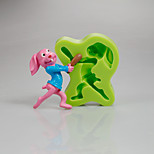 Easter Bunny Silicone Mould Fondant Festival Party Cake Decorating Tools for Chocolate Cupcake Candy Clay Making