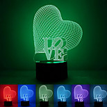 Love Confession Creative Colorful USB 3D Led Night Light
