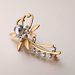 European and American fashion zircon Pearl Brooch Series 005
