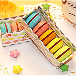 Macaron Shape Eraser Gift Box Of 5 Pcs Children