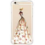 iPhone 6s Plus/6/iPhone 6s/6 TPU&Silicone Soft Shockproof Sexy Lady Back Cover