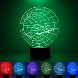 Flyet kreativ fargerike usb 3D LED nattlys