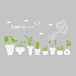 Wall Stickers Wall Decals Style Lovely Green Pot PVC Wall Stickers