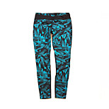 Running Tights Women's Quick Dry / Sweat-wicking / Compression Running Sports Cyan