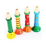 colorido de instrumentos en color madera pequeña bocina