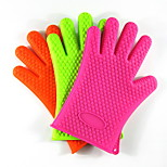 156G Thick Silicone Glove Silicone Bakeware Microwave Oven Gloves Insulated Gloves Fingers 5Pcs