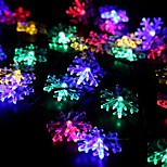 Solar Fairy String Lights 10m/33ft 60 LED Snowflake Decorative Gardens, Lawn, Patio, Christmas Trees, Weddings